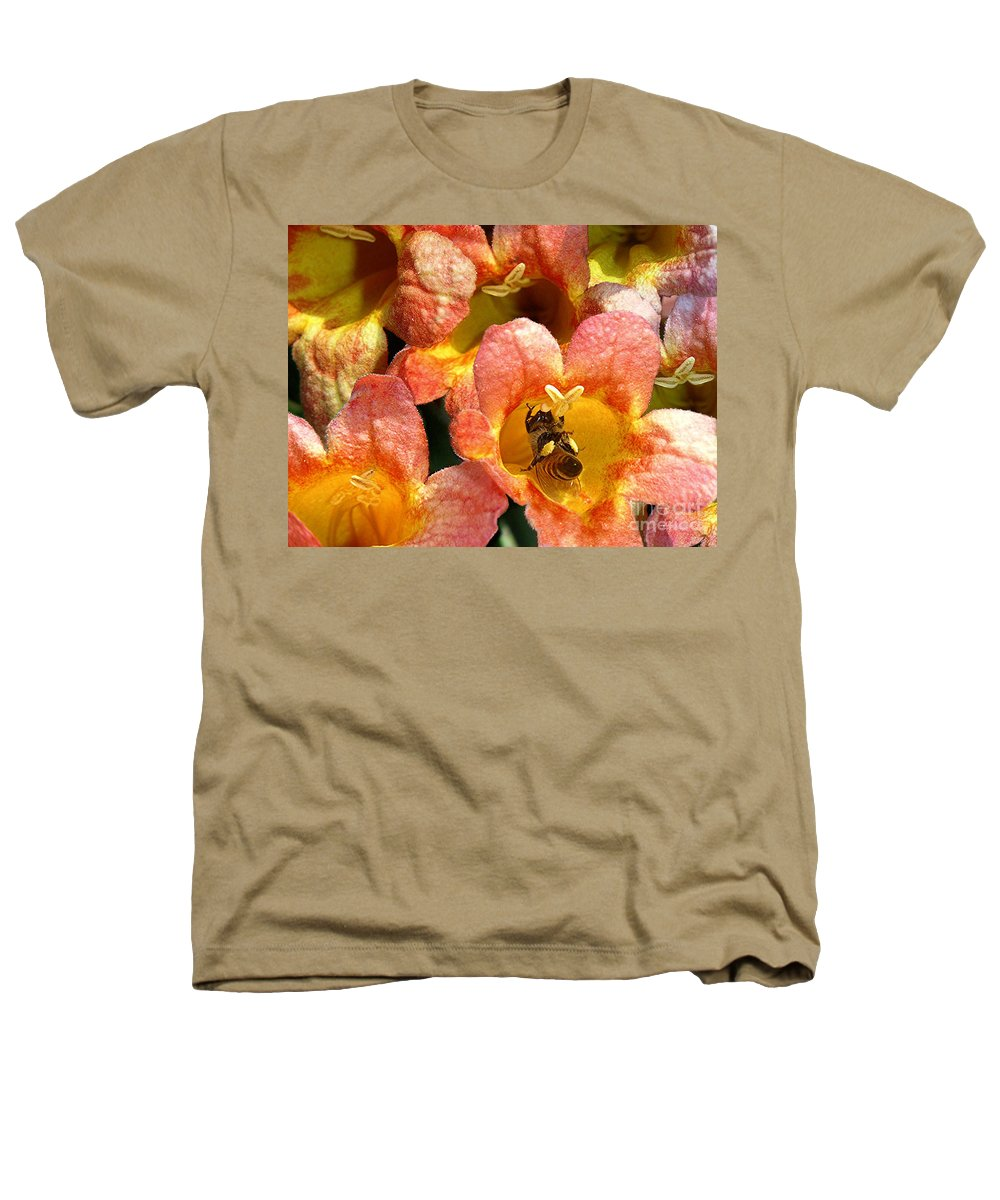 Nature Heathers T-Shirt featuring the photograph Caught Up In The Work by Lucyna A M Green