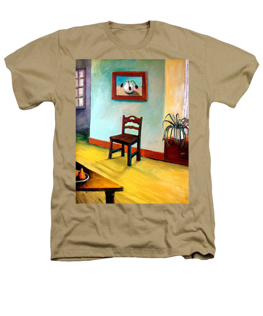 Apartment Heathers T-Shirt featuring the painting Chair And Pears Interior by Michelle Calkins