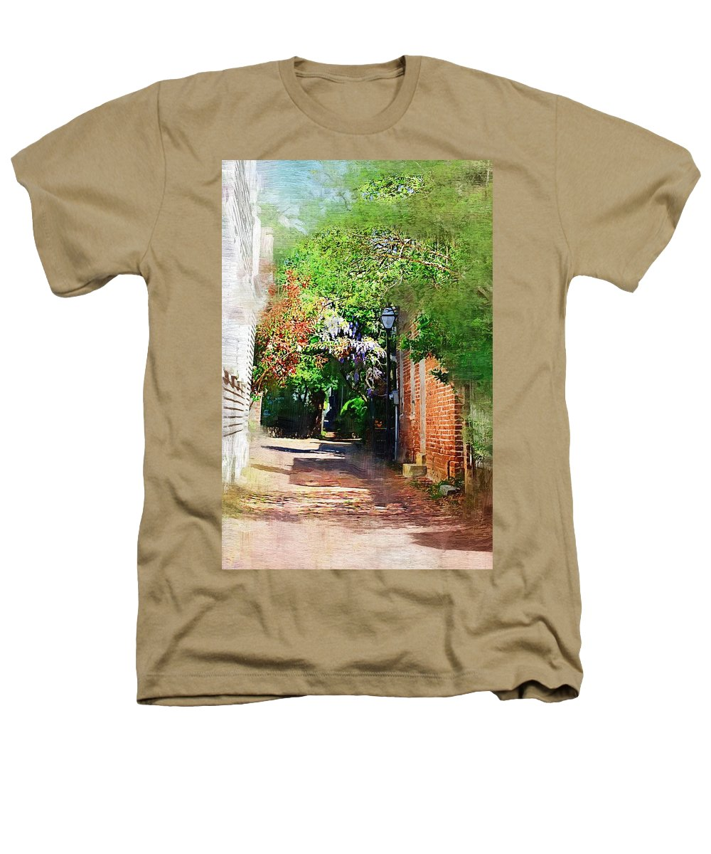 Alley Heathers T-Shirt featuring the photograph Charlestons Alley by Donna Bentley