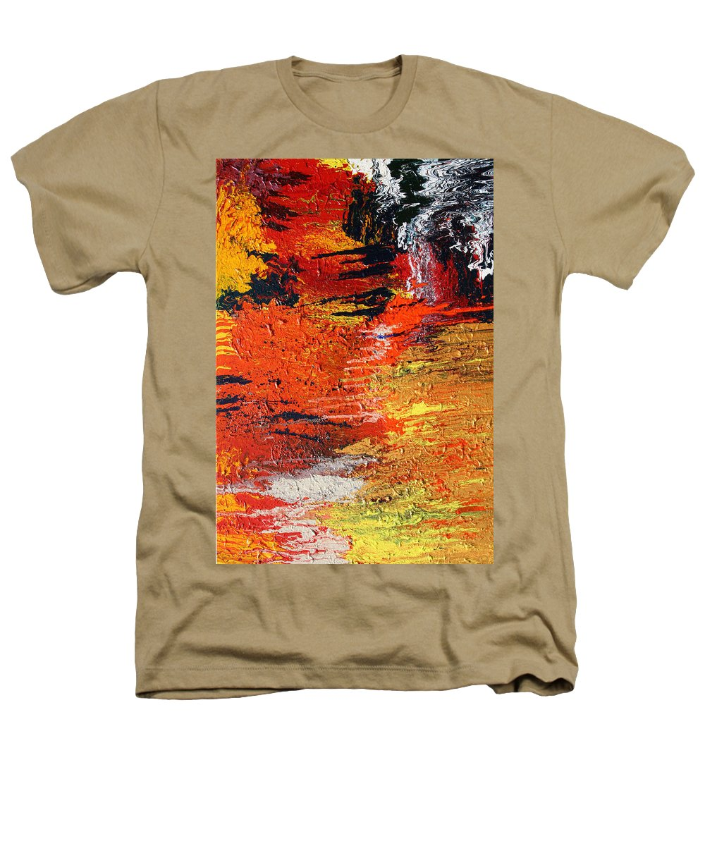 Fusionart Heathers T-Shirt featuring the painting Chasm by Ralph White