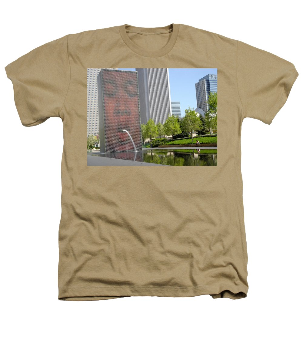 Chicago Heathers T-Shirt featuring the photograph Chicago Crown Fountain 8 by Jean Macaluso