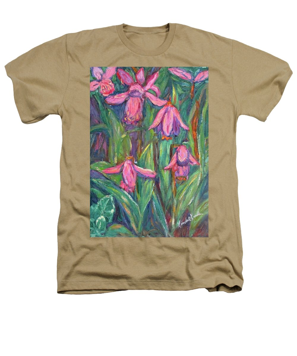 Floral Heathers T-Shirt featuring the painting Chinese Orchids by Kendall Kessler