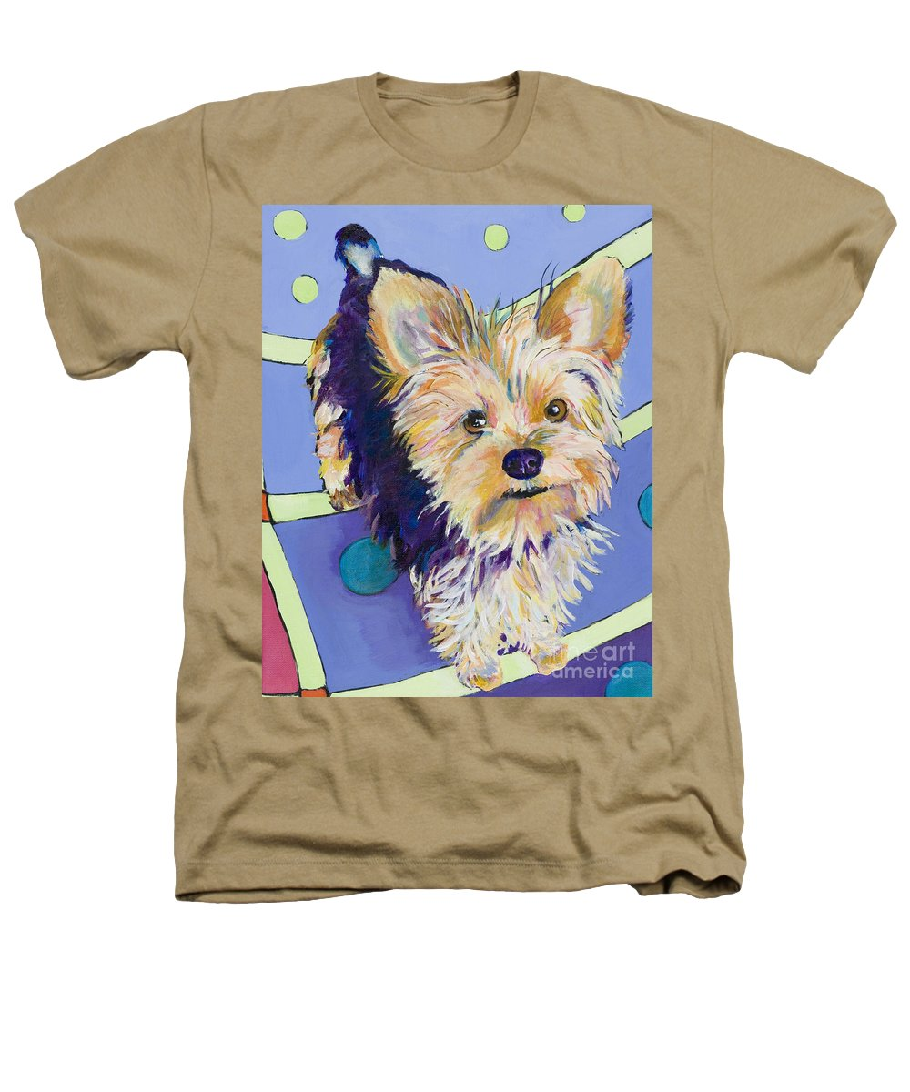Pet Portraits Heathers T-Shirt featuring the painting Claire by Pat Saunders-White