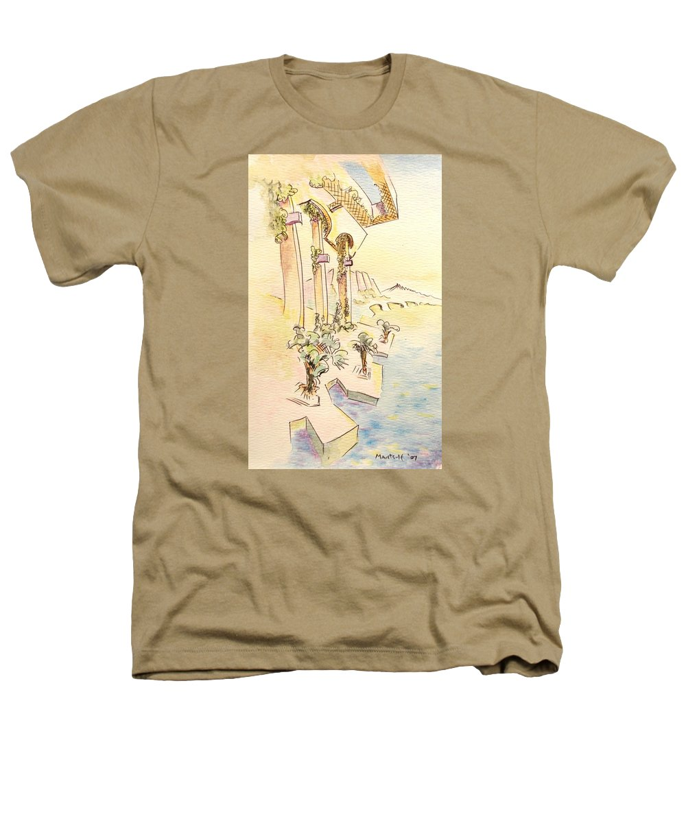 Italian Heathers T-Shirt featuring the painting Classic Summer Morning by Dave Martsolf