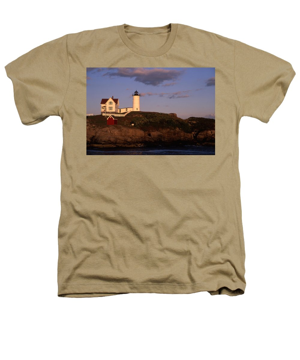 Landscape New England Lighthouse Nautical Coast Heathers T-Shirt featuring the photograph Cnrf0908 by Henry Butz