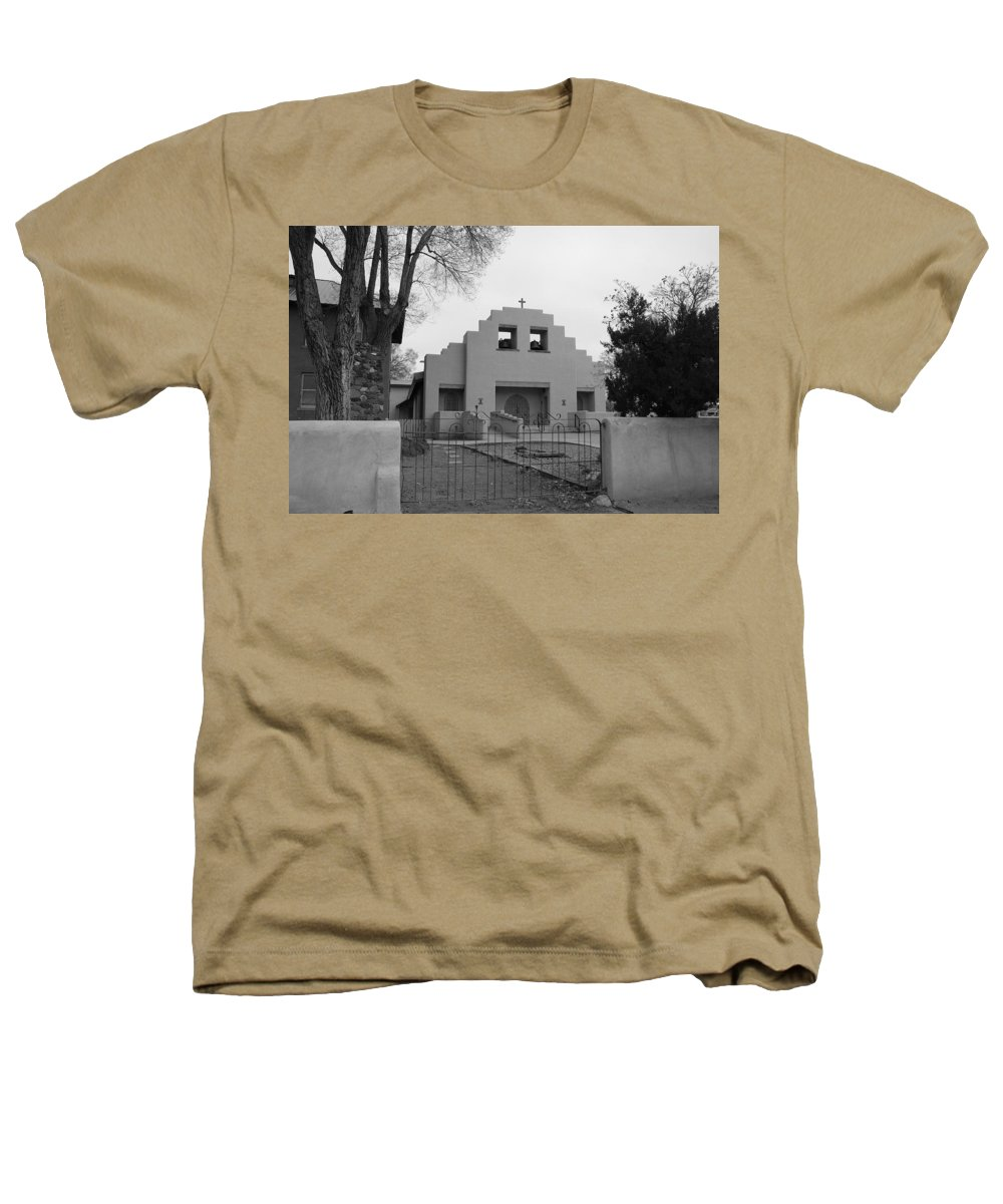 Architecture Heathers T-Shirt featuring the photograph Cochiti Church by Rob Hans