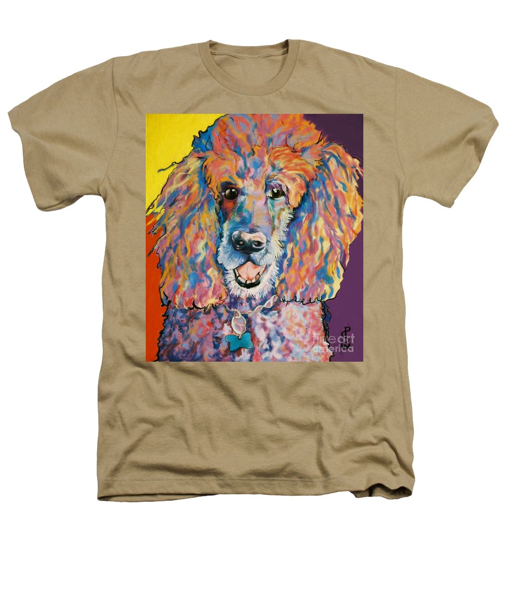 Standard Poodle Heathers T-Shirt featuring the painting Cole by Pat Saunders-White