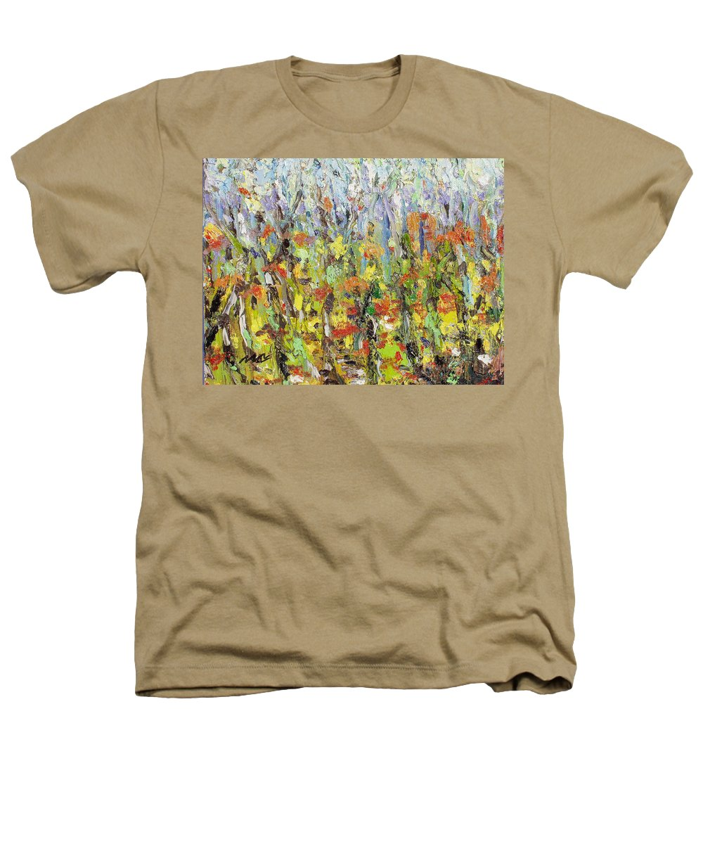Autumn Abstract Paintings Heathers T-Shirt featuring the painting Colorful Forest by Seon-Jeong Kim