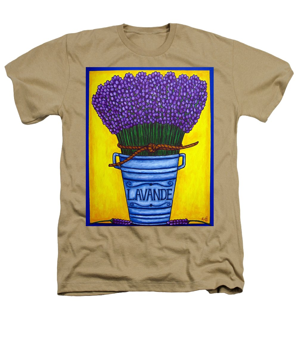 Antique Heathers T-Shirt featuring the painting Colours Of Provence by Lisa Lorenz