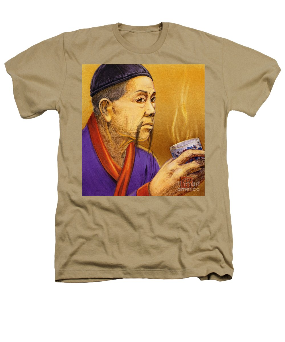 Oriental Heathers T-Shirt featuring the painting Confucian Sage by Melissa A Benson