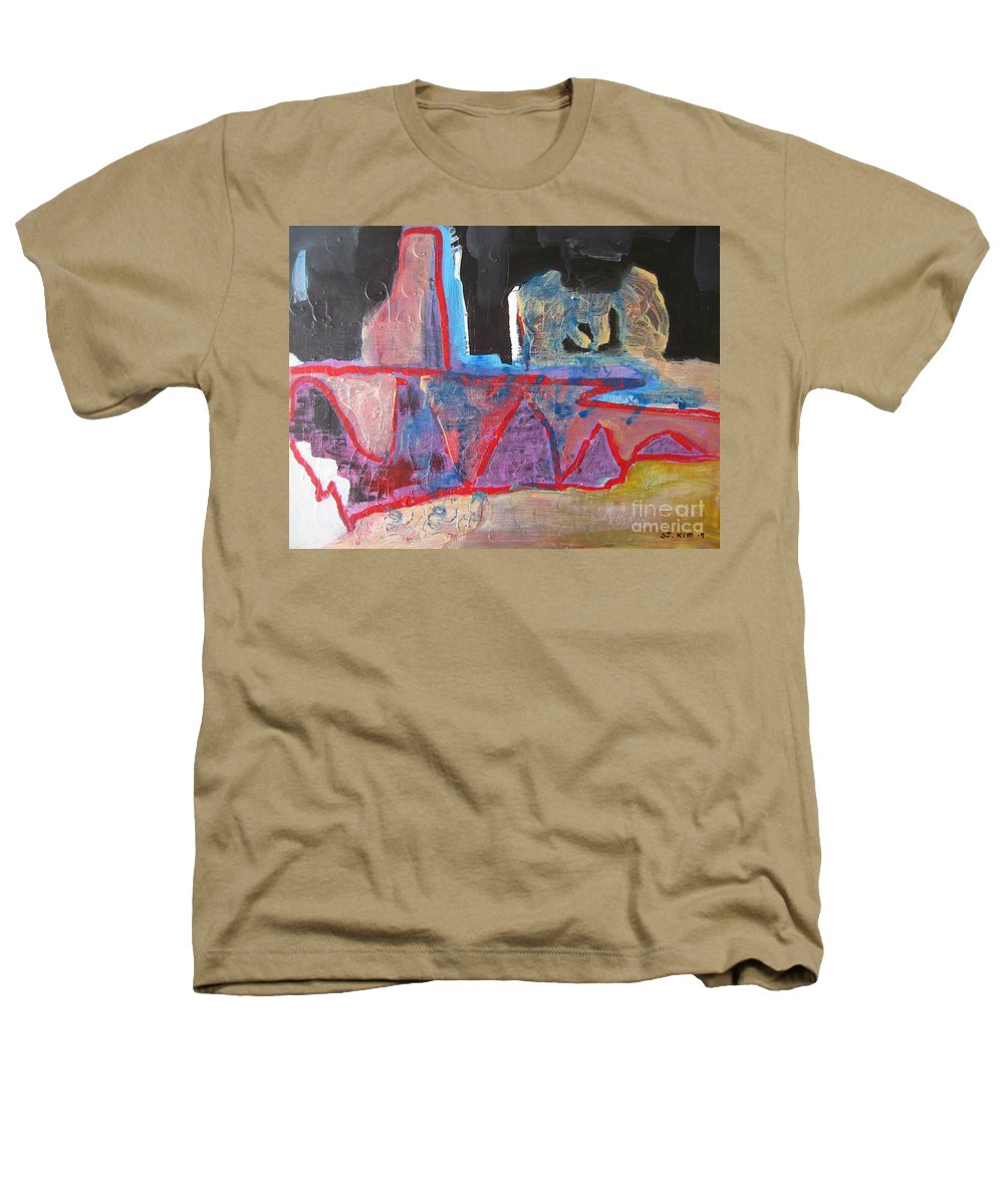 Abstract Paintings Heathers T-Shirt featuring the painting Contradiction Of Time by Seon-Jeong Kim