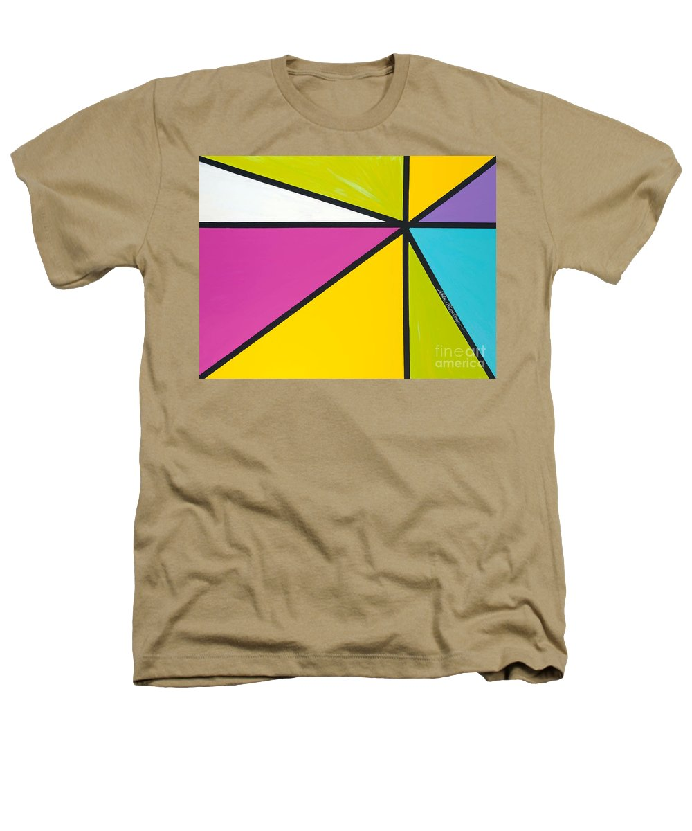 Lines Heathers T-Shirt featuring the painting Convergence by Nadine Rippelmeyer