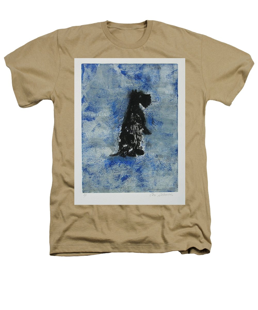 Monotype Heathers T-Shirt featuring the mixed media Cool Blue by Cori Solomon