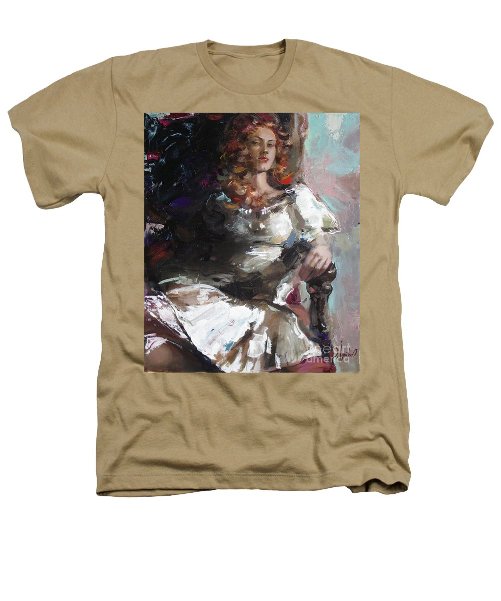 Ignatenko Heathers T-Shirt featuring the painting Countess by Sergey Ignatenko