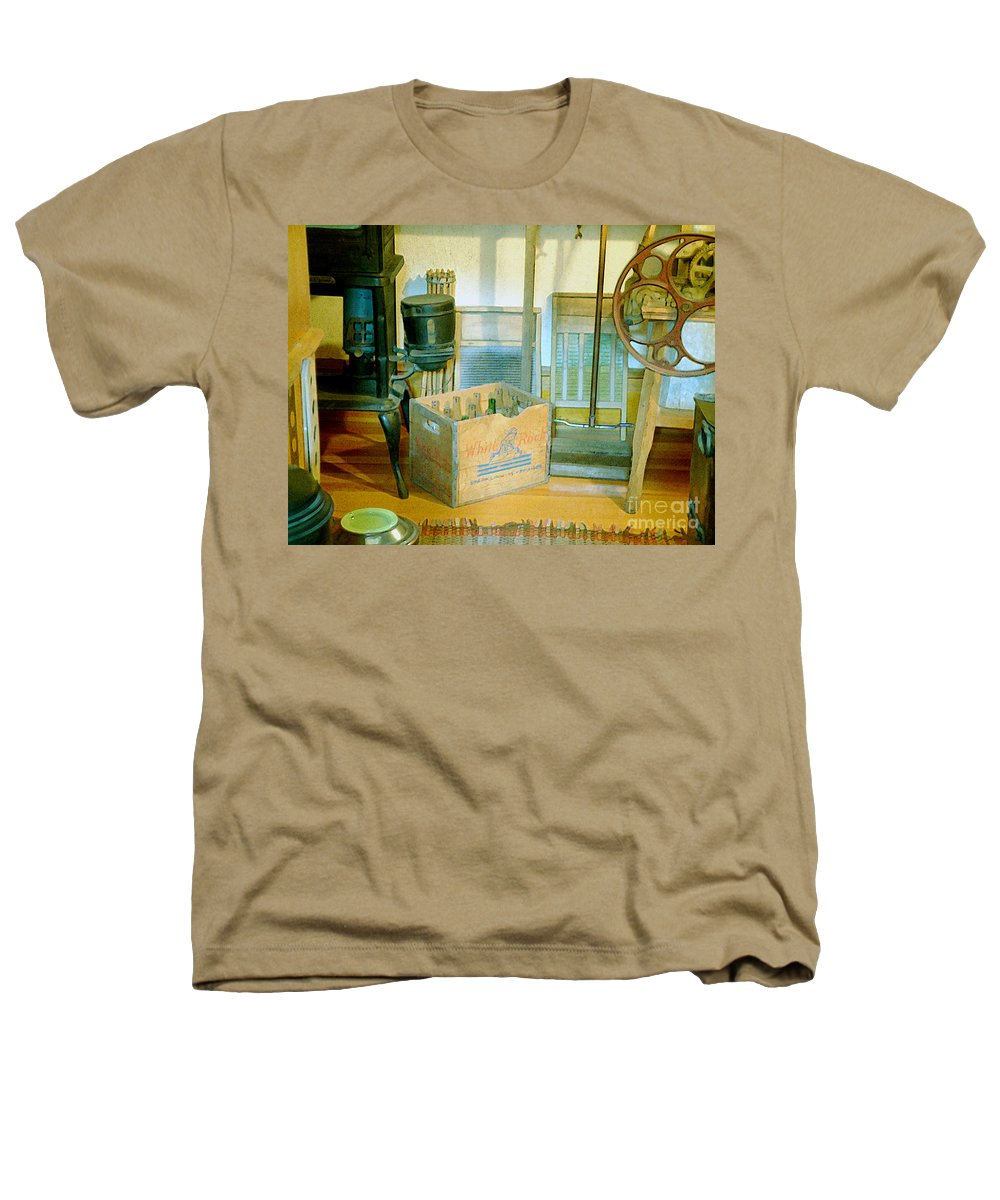 Kitchen Heathers T-Shirt featuring the painting Country Kitchen Sunshine II by RC deWinter