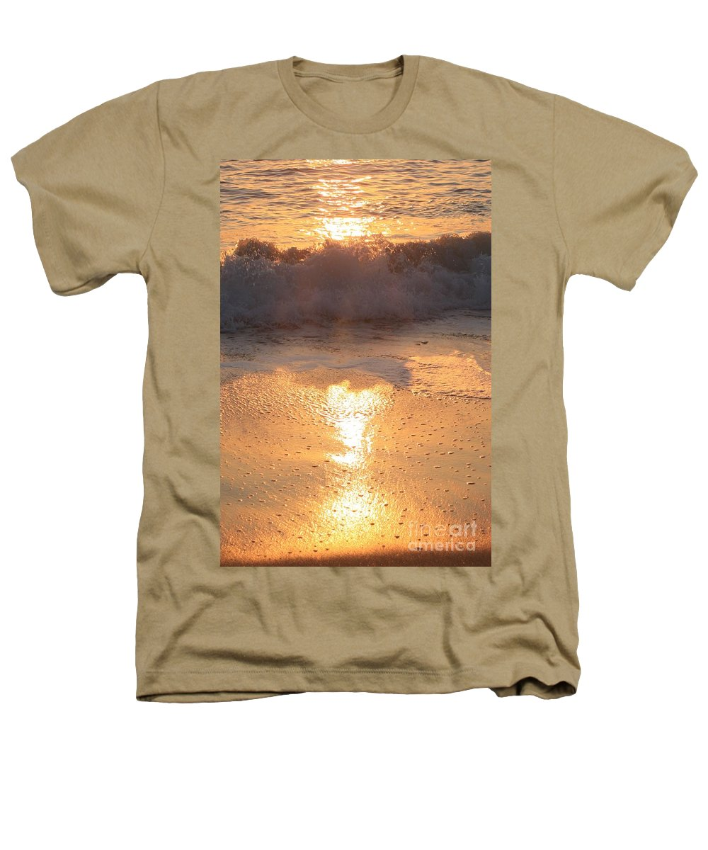 Waves Heathers T-Shirt featuring the photograph Crashing Wave At Sunrise by Nadine Rippelmeyer