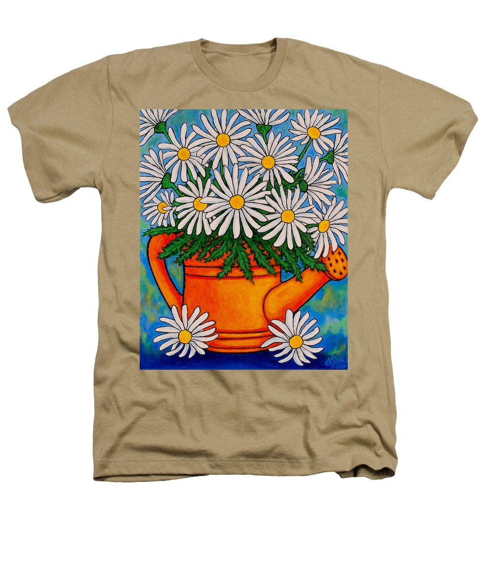 Daisies Heathers T-Shirt featuring the painting Crazy For Daisies by Lisa Lorenz