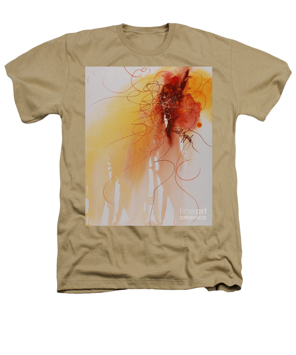 Creativity Heathers T-Shirt featuring the painting Creativity by Nadine Rippelmeyer
