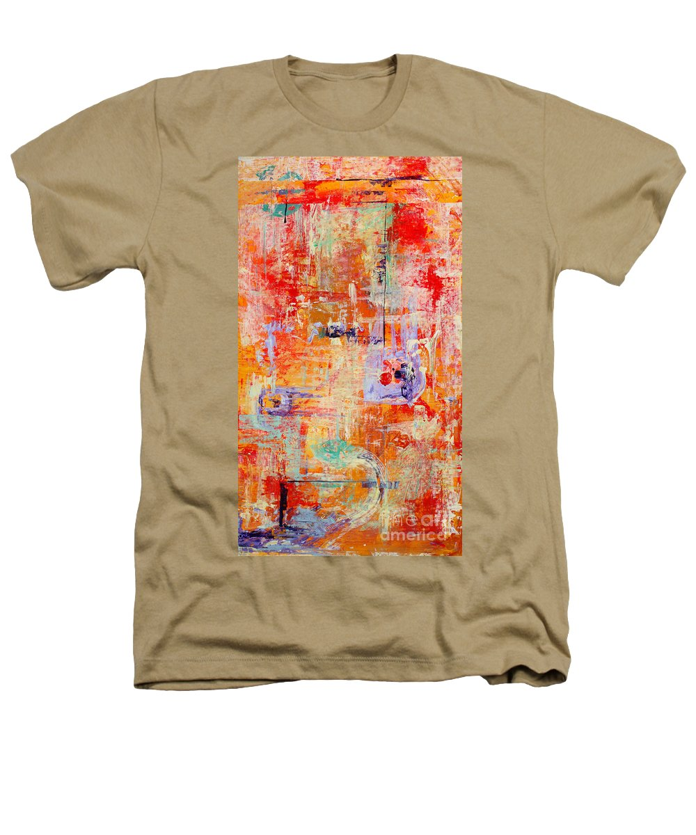 Large Format Painting Heathers T-Shirt featuring the painting Crescendo by Pat Saunders-White
