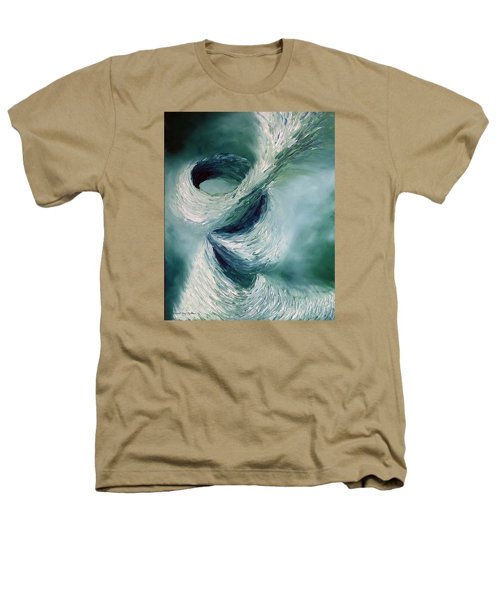 Tornado Heathers T-Shirt featuring the painting Cyclone by Elizabeth Lisy Figueroa