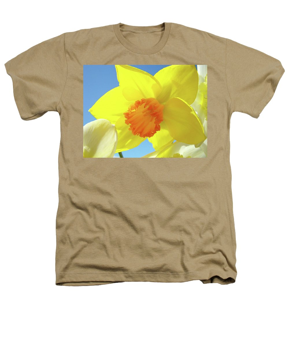 �daffodils Artwork� Heathers T-Shirt featuring the photograph Daffodil Flowers Artwork 18 Spring Daffodils Art Prints Floral Artwork by Baslee Troutman