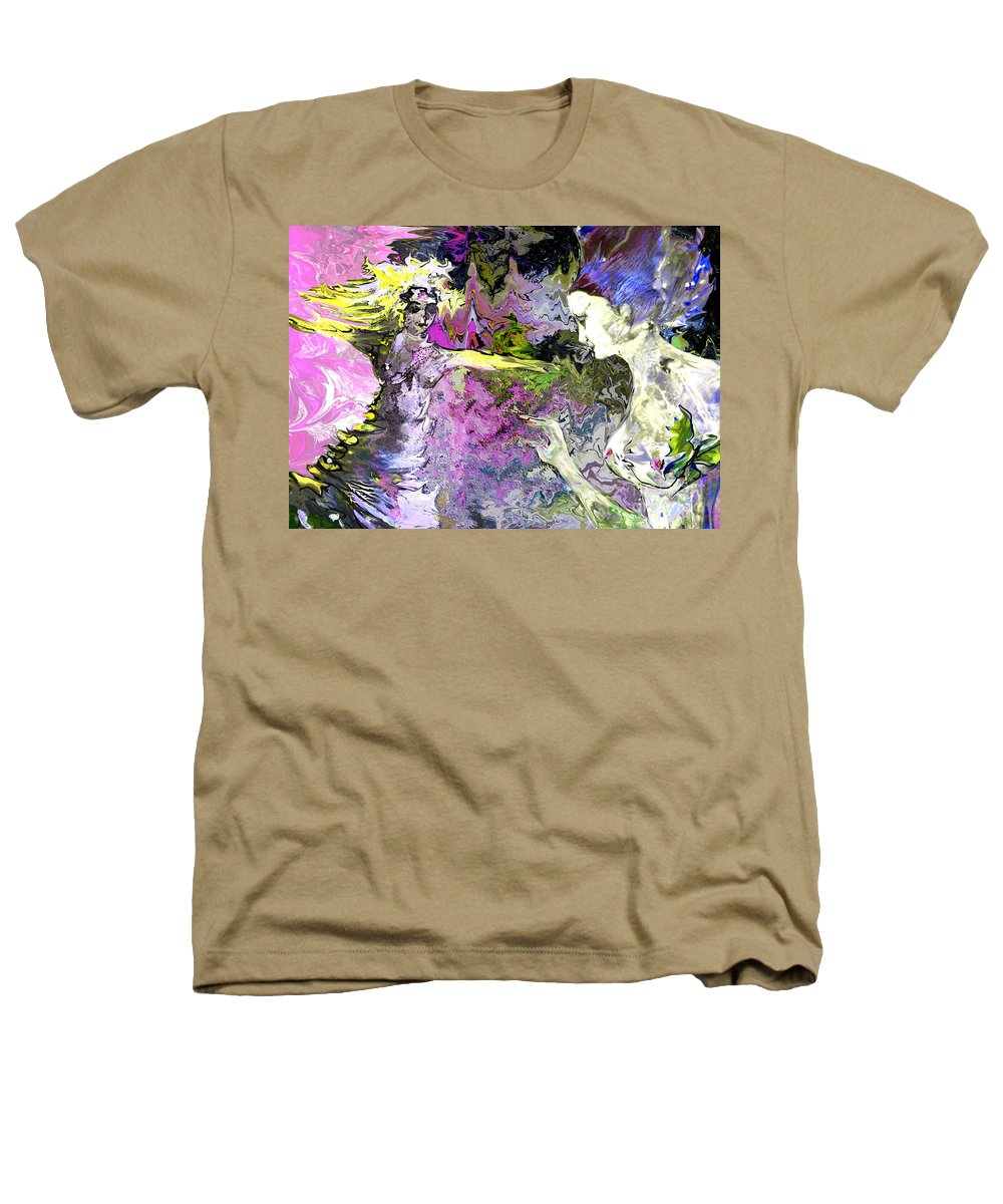 Miki Heathers T-Shirt featuring the painting Dance In Violet by Miki De Goodaboom