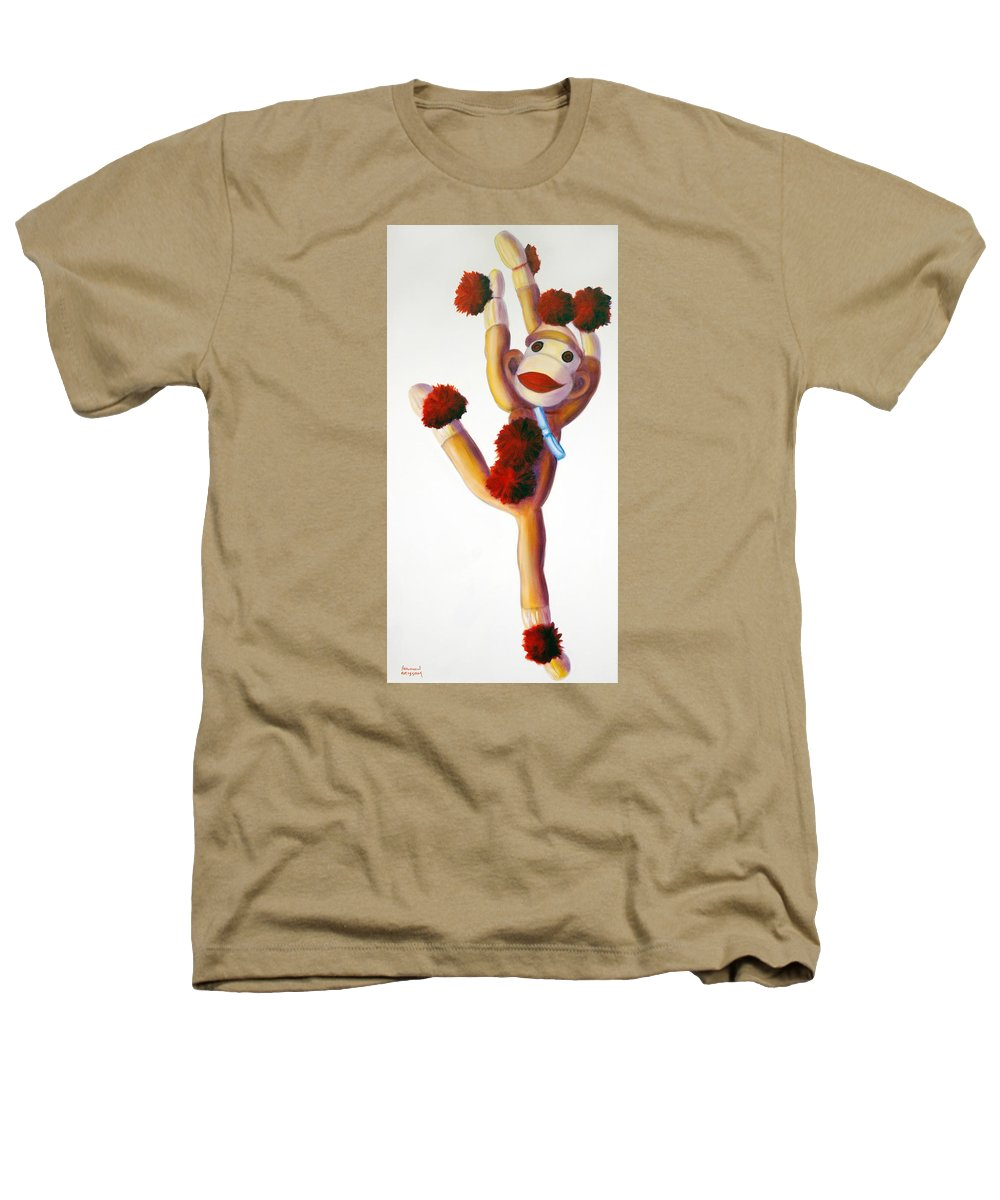 Dancer Heathers T-Shirt featuring the painting Dancer Made Of Sockies by Shannon Grissom