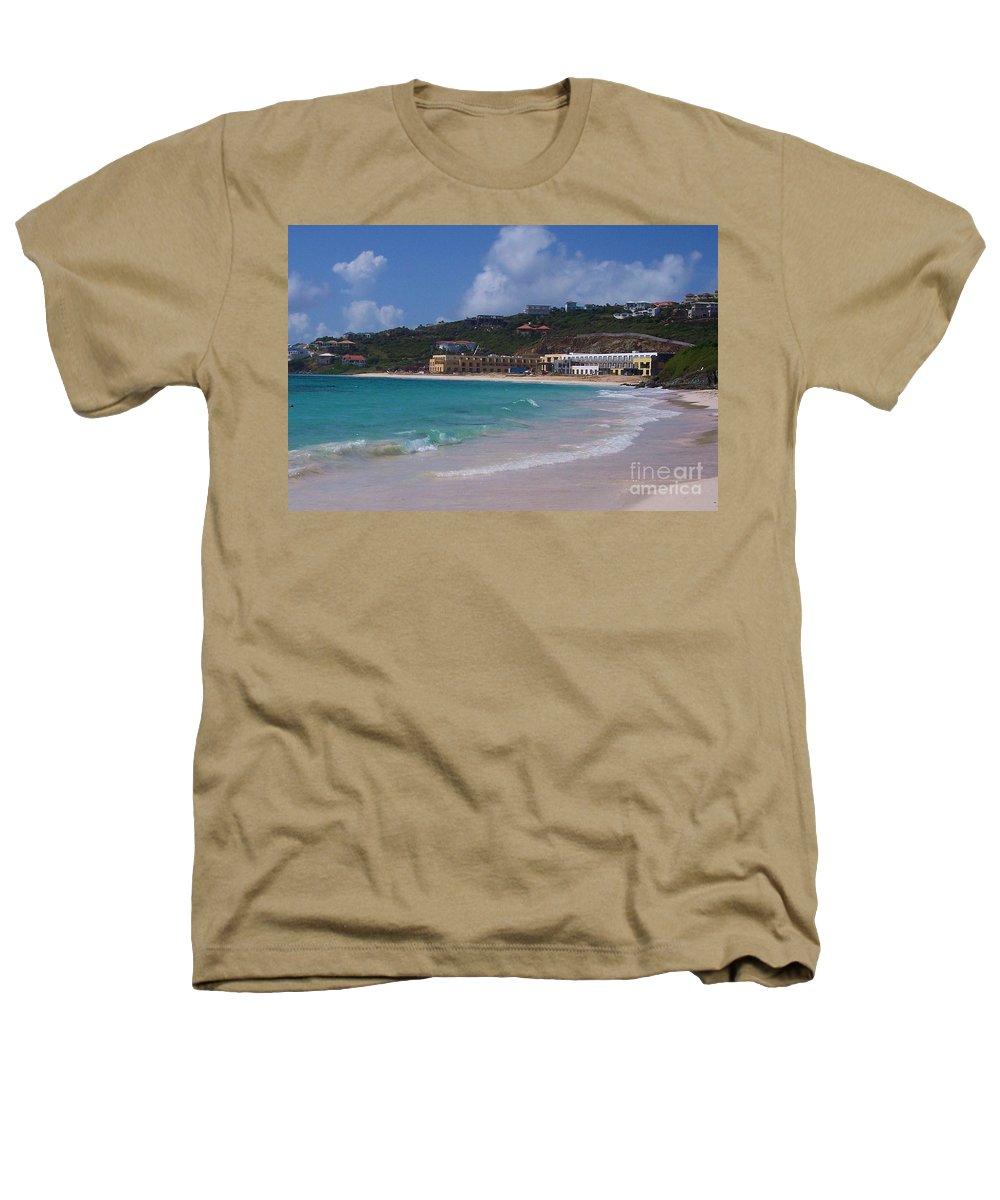 Dawn Beach Heathers T-Shirt featuring the photograph Dawn Beach by Debbi Granruth