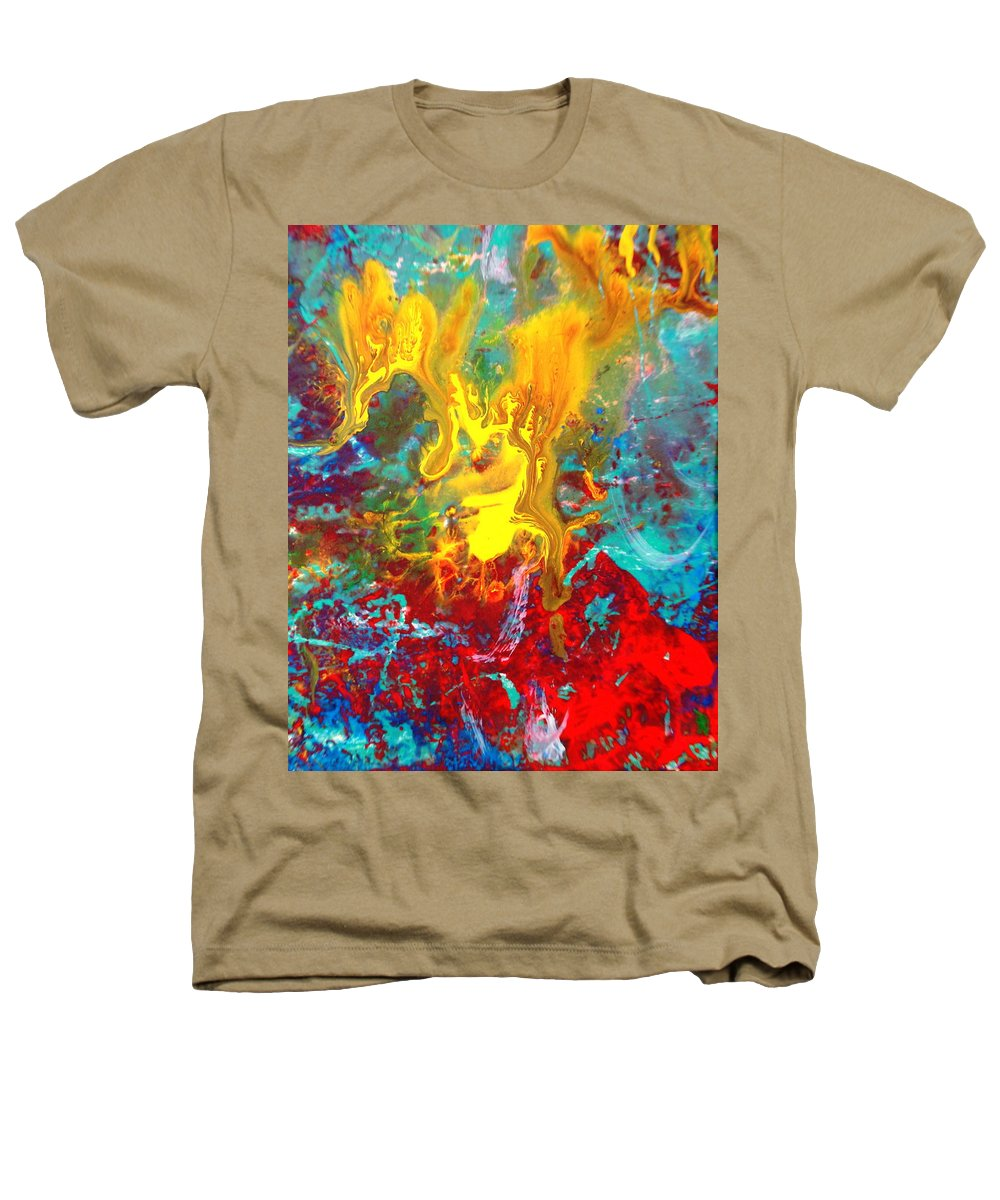 Abstract Heathers T-Shirt featuring the painting Dawn Of The Universe by Natalie Holland