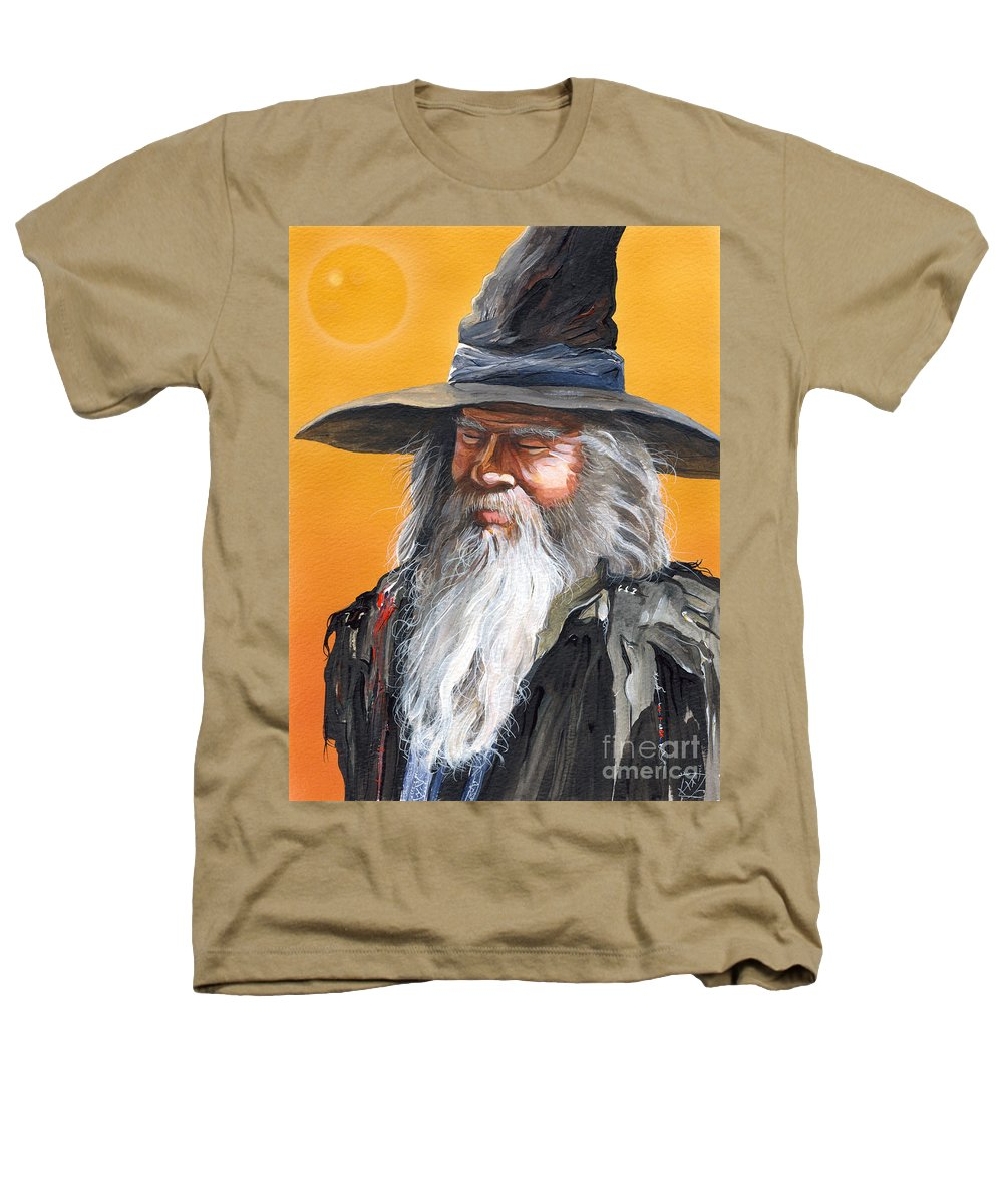 Fantasy Art Heathers T-Shirt featuring the painting Daydream Wizard by J W Baker