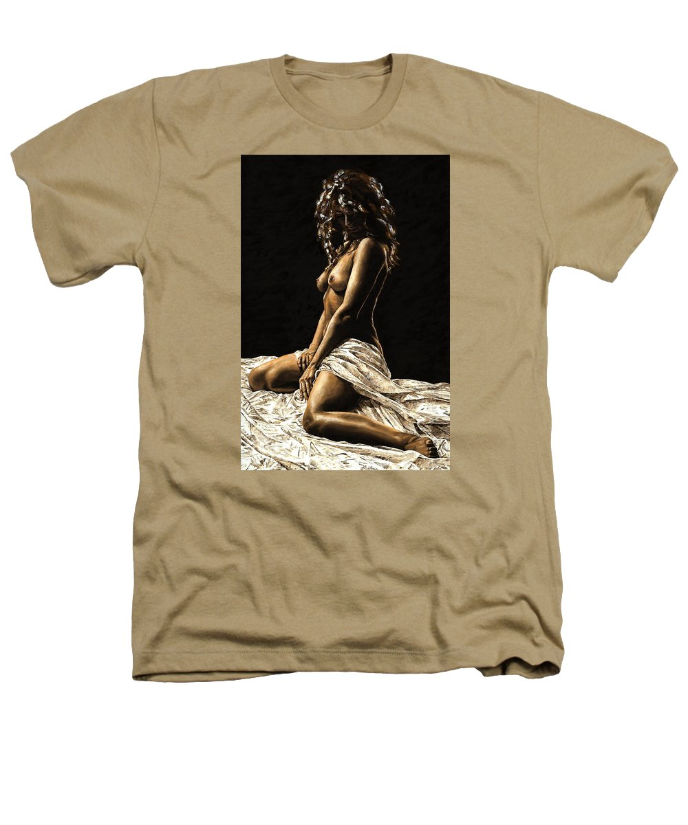 Nude Heathers T-Shirt featuring the painting Defiance by Richard Young