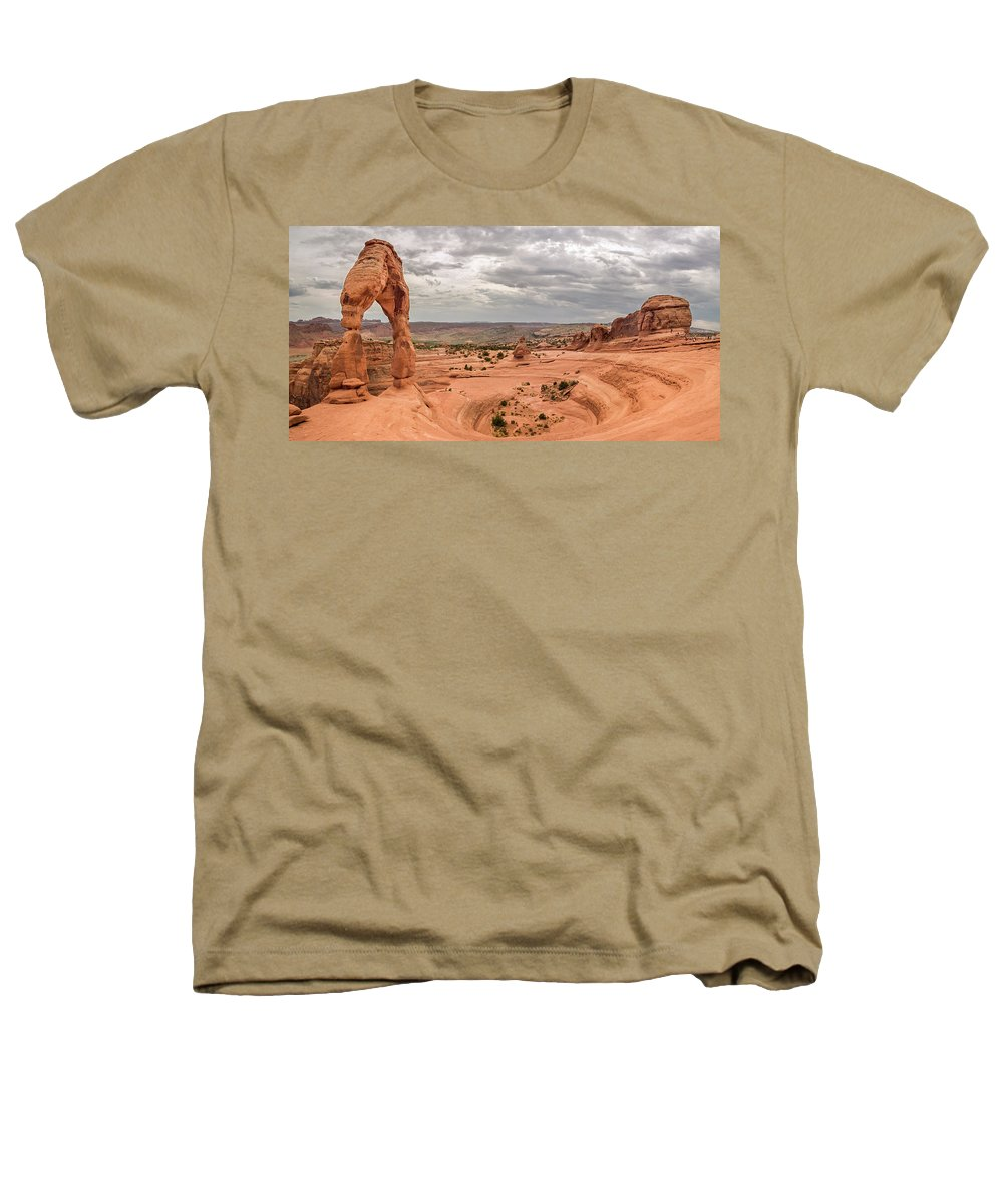 3scape Heathers T-Shirt featuring the photograph Delicate Arch Panoramic by Adam Romanowicz