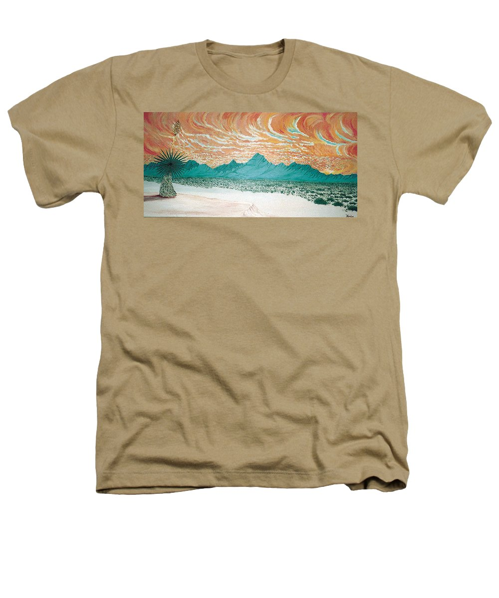 Desertscape Heathers T-Shirt featuring the painting Desert Splendor by Marco Morales