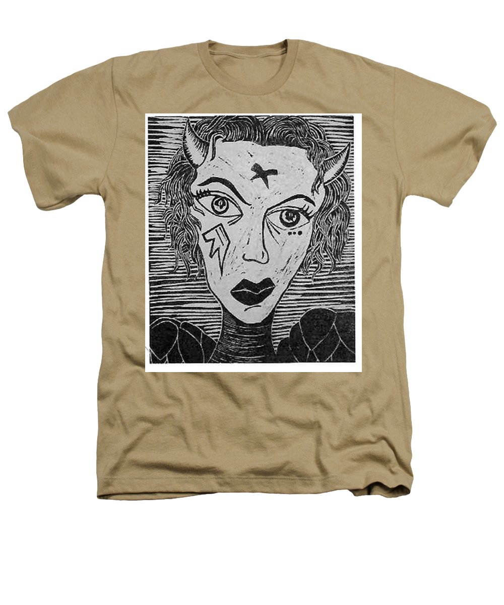 Prints Heathers T-Shirt featuring the print Devil Print Two Out Of Five by Thomas Valentine