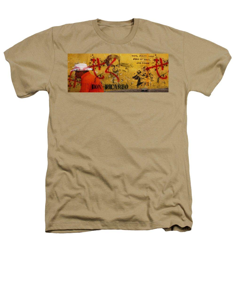 Grafitti Heathers T-Shirt featuring the photograph Don-ricardo by Skip Hunt