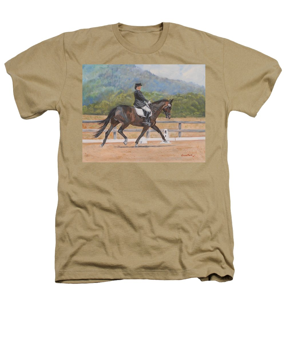 Horse Heathers T-Shirt featuring the painting Donnerlittchen by Quwatha Valentine