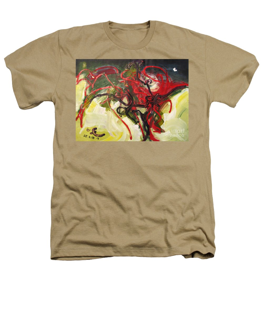 Abstract Paintings Paintings Abstract Art Paintings Heathers T-Shirt featuring the painting Don't Bother Me by Seon-Jeong Kim