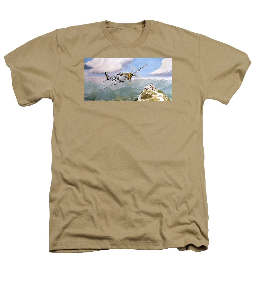Military Heathers T-Shirt featuring the painting Double Trouble Over The Eagle by Marc Stewart