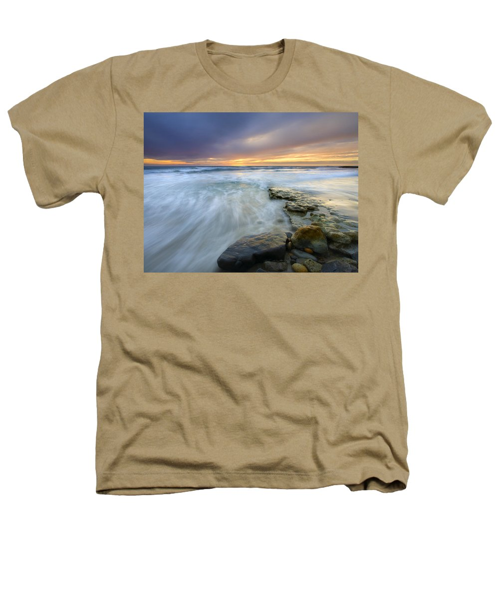 Rocks Heathers T-Shirt featuring the photograph Driven Before The Storm by Mike Dawson