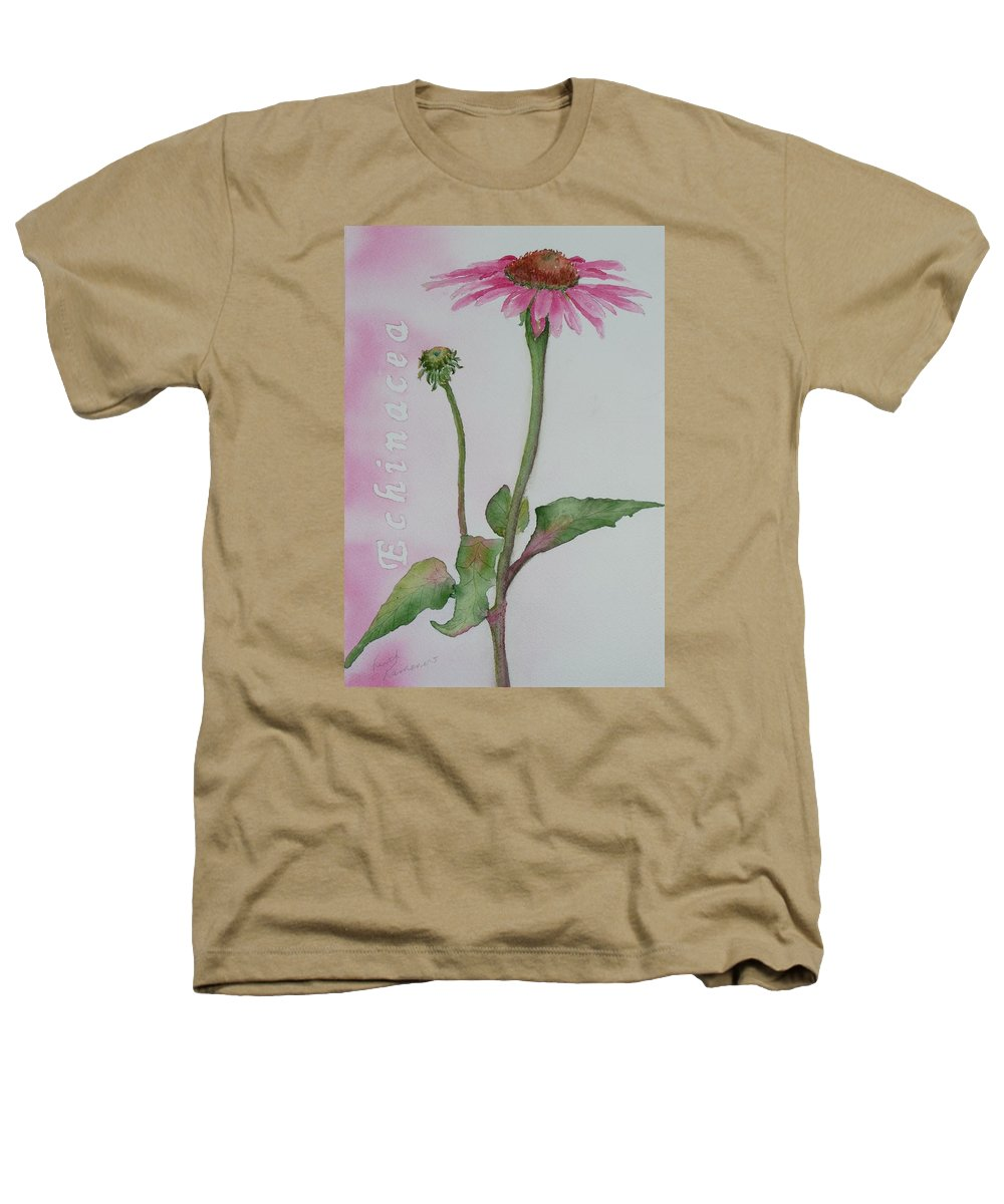 Flower Heathers T-Shirt featuring the painting Echinacea by Ruth Kamenev