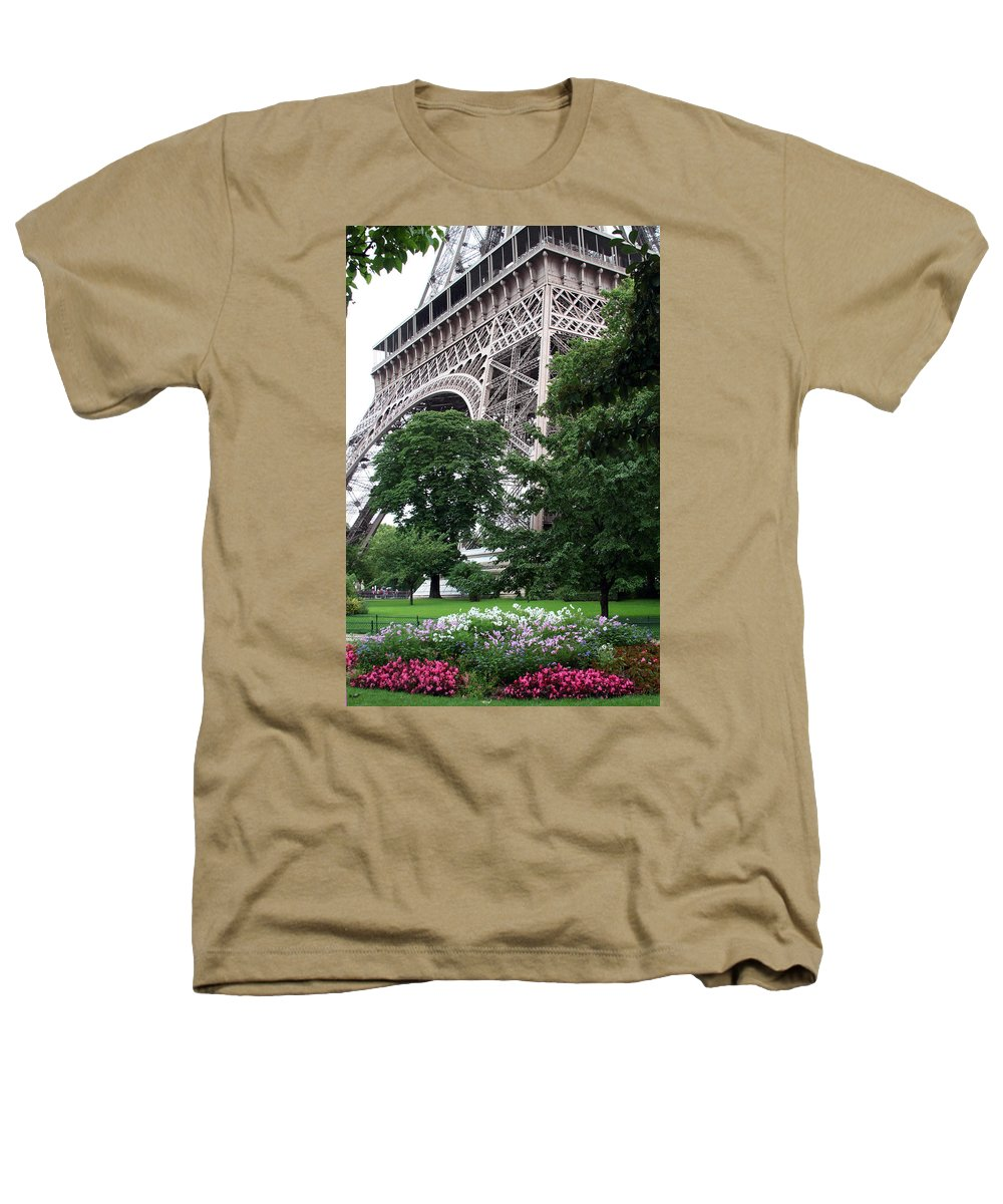 Eiffel Heathers T-Shirt featuring the photograph Eiffel Tower Garden by Margie Wildblood