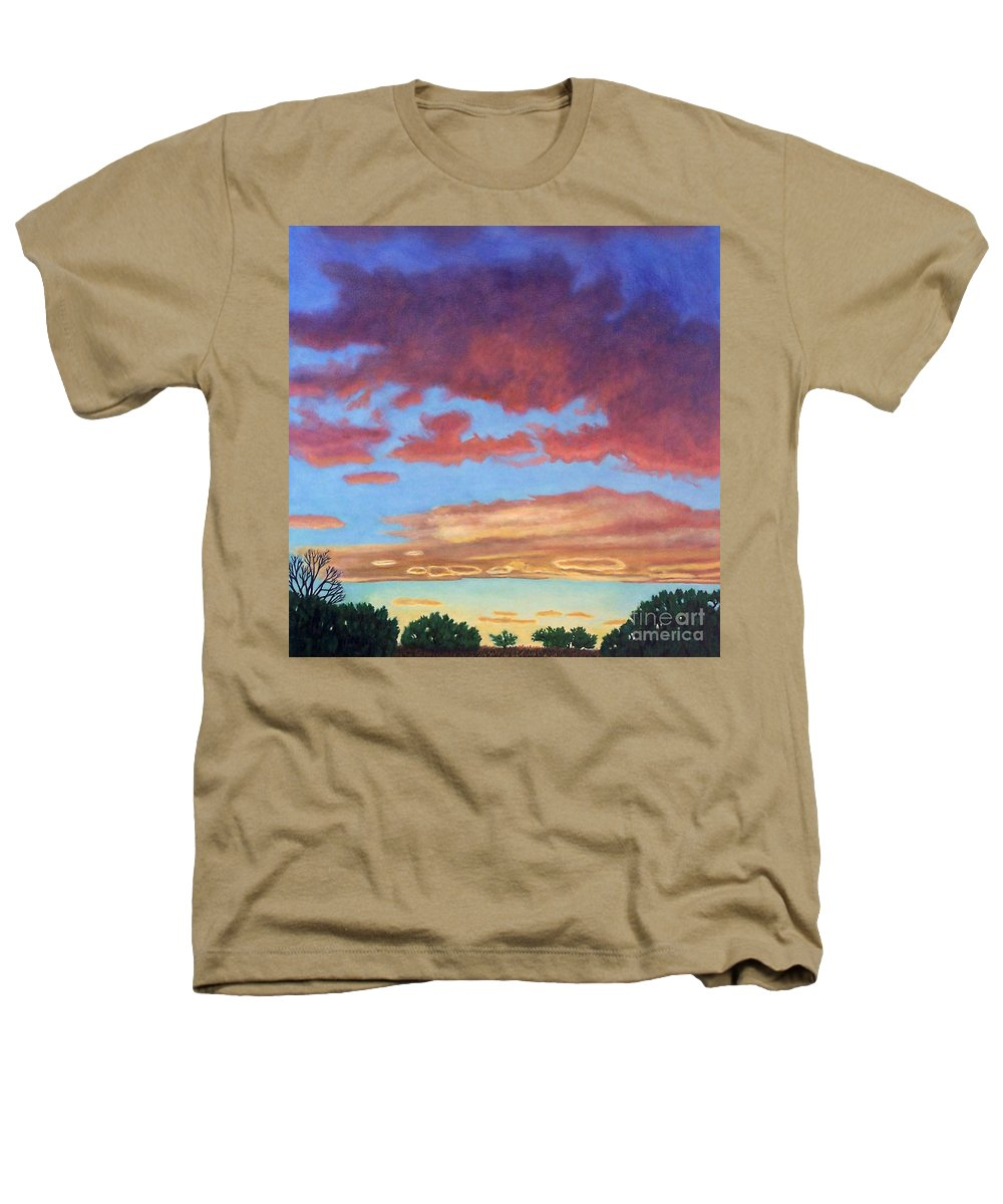 Sunset Heathers T-Shirt featuring the painting El Dorado Sunset by Brian Commerford