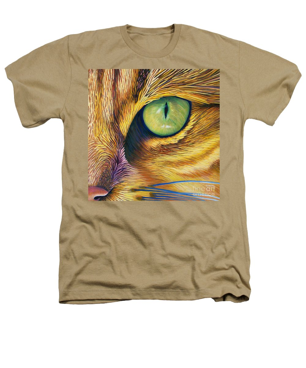 Cat Heathers T-Shirt featuring the painting El Gato by Brian Commerford