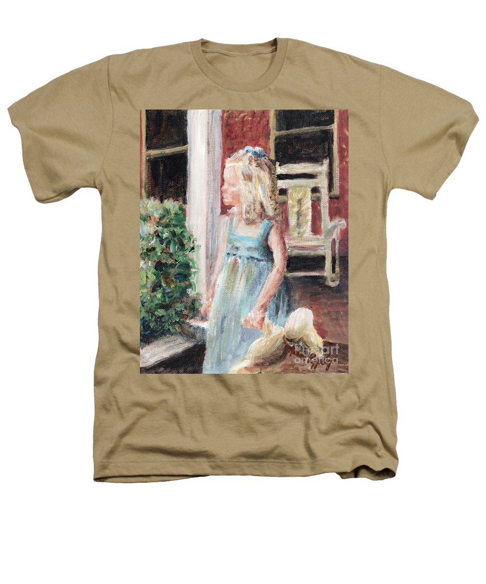 Girl Heathers T-Shirt featuring the painting Elizabeth Anne by Nadine Rippelmeyer