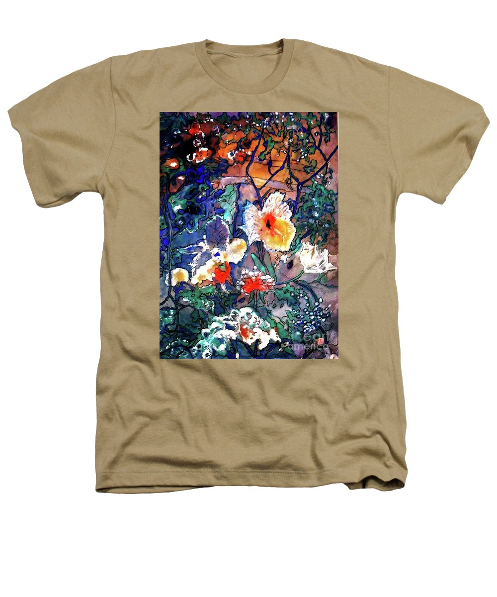 Landscape Heathers T-Shirt featuring the painting Enchanted Garden by Norma Boeckler