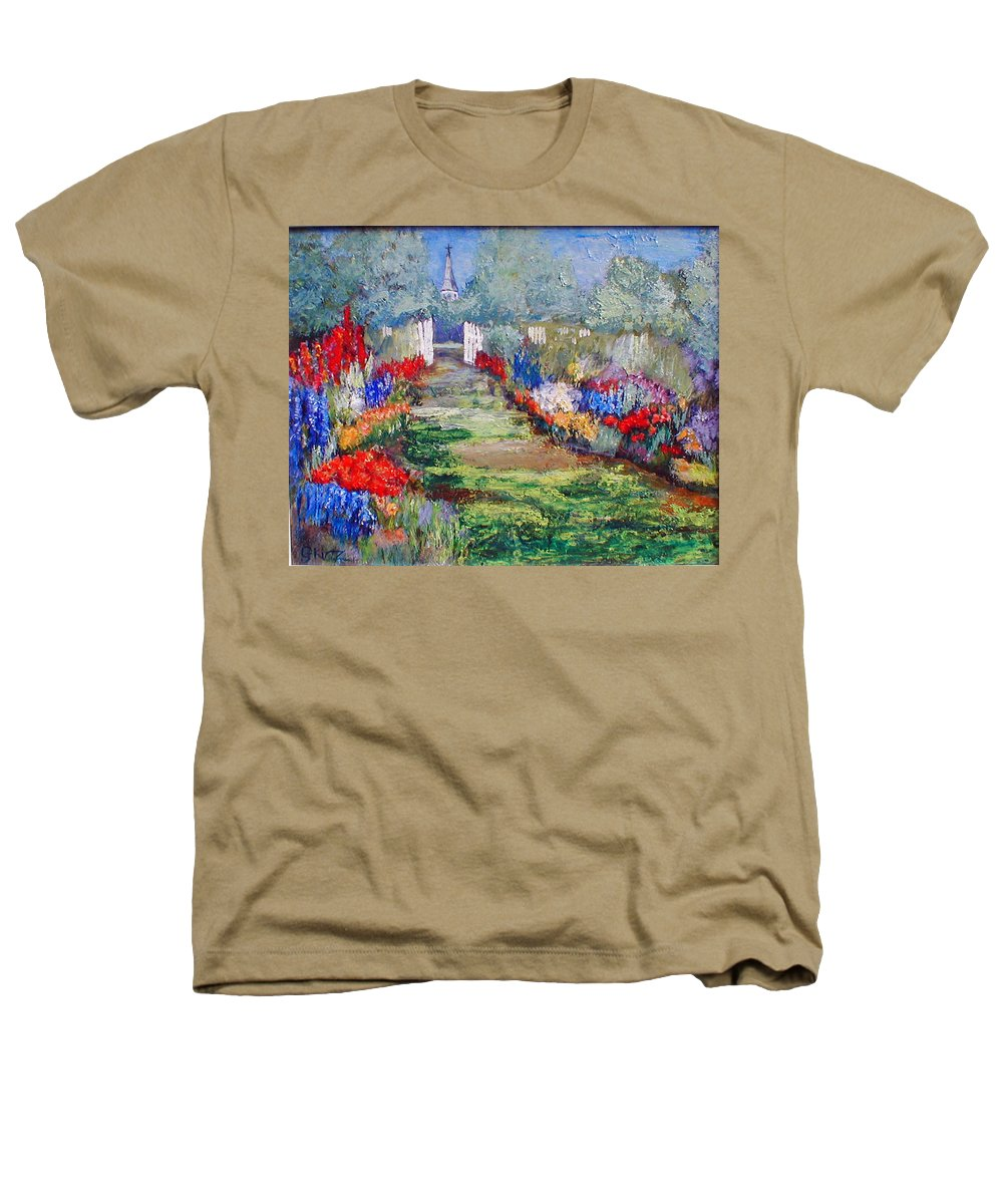 Landscape Heathers T-Shirt featuring the painting Enter His Gates by Gail Kirtz