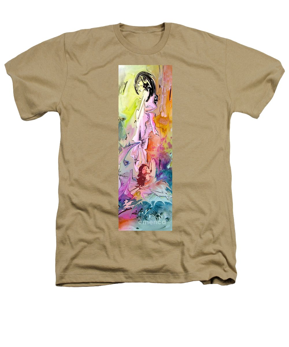Miki Heathers T-Shirt featuring the painting Eroscape 09 1 by Miki De Goodaboom
