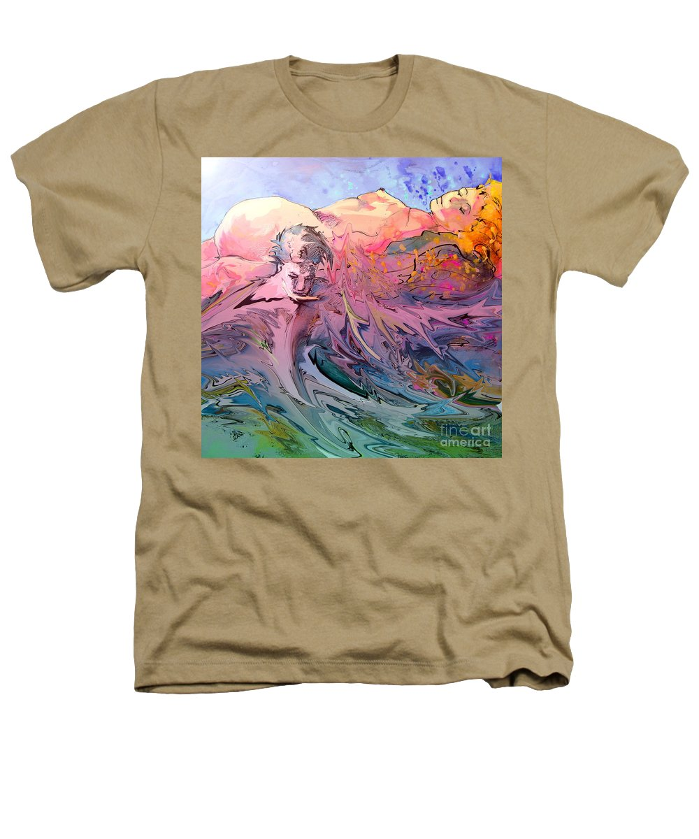 Miki Heathers T-Shirt featuring the painting Eroscape 10 by Miki De Goodaboom