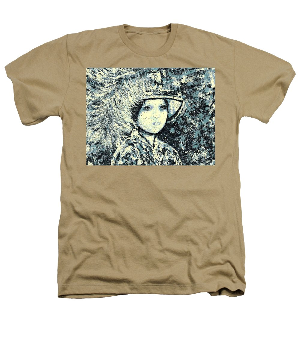 Woman Heathers T-Shirt featuring the painting Evalina by Natalie Holland