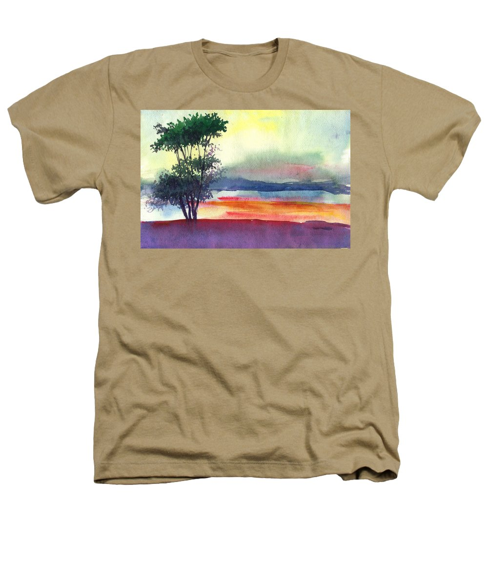 Water Color Heathers T-Shirt featuring the painting Evening Lights by Anil Nene